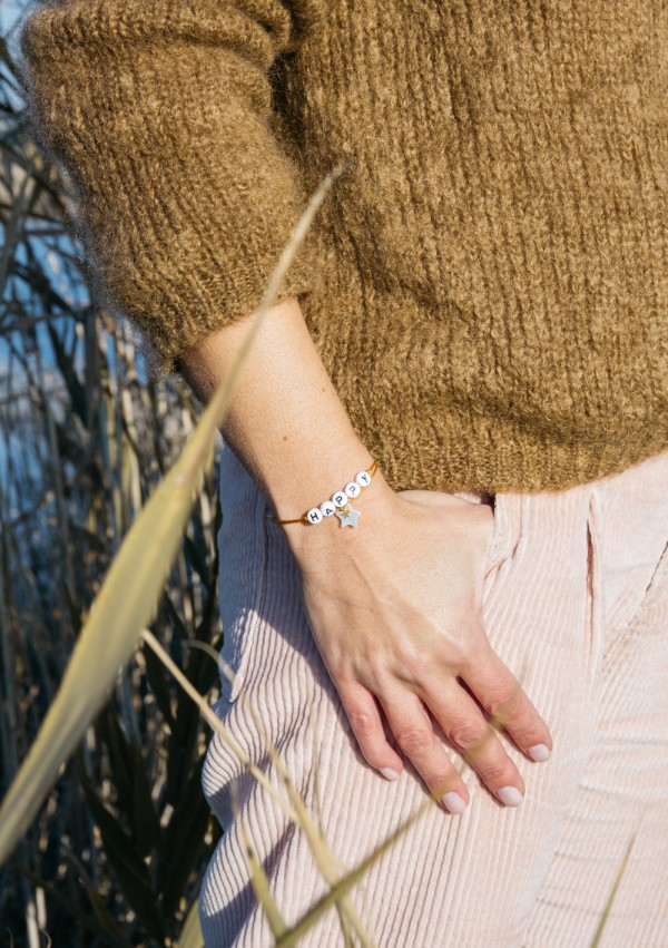 pearly star bracelet SISTER for woman