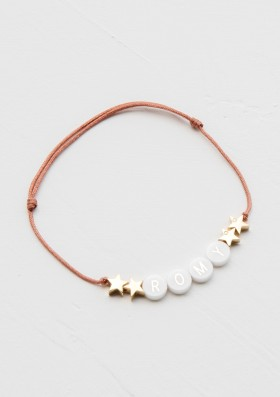 ceramic bracelet with 4 gold stars